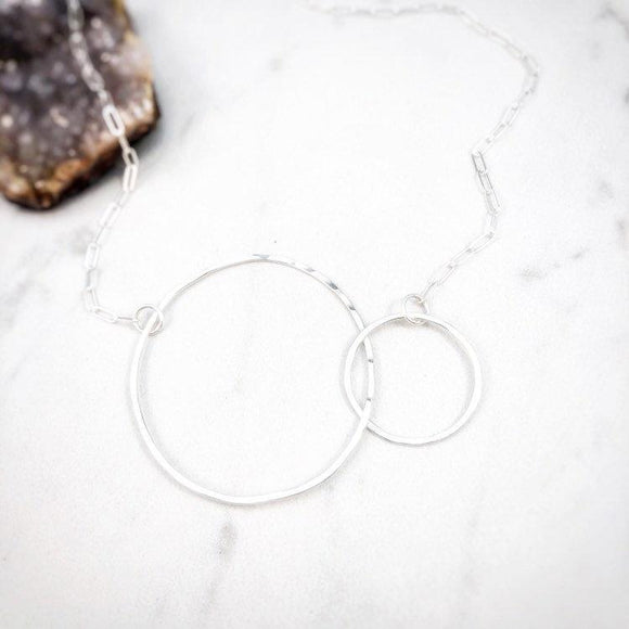 Sterling Silver Abstract Infinity Necklace