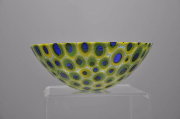 cobalt murrine bowl