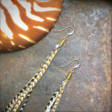 Mini Feather Earrings - Grizzly & Ginger