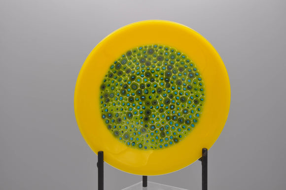 Yellow rimmed murrine bowl