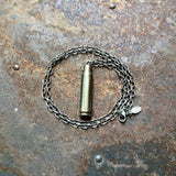 Single Bullet Necklace - Gray 308