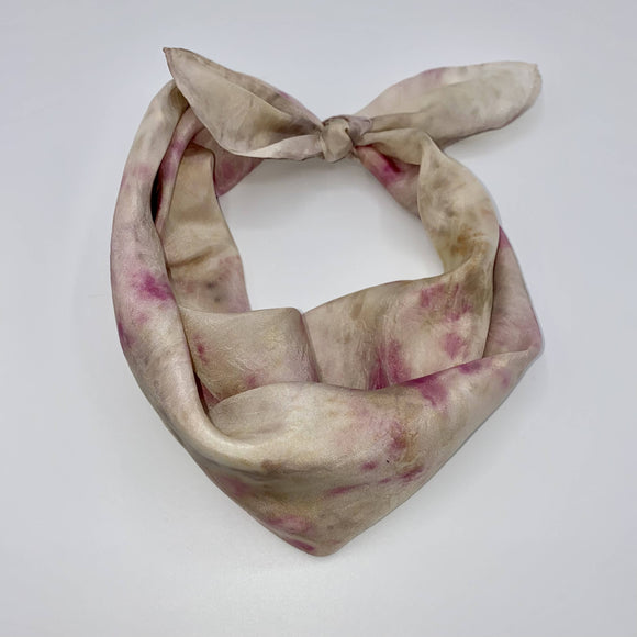Pink and Rose Silk Bandana scarf