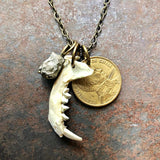 Jawbone & Fool's Gold Necklace