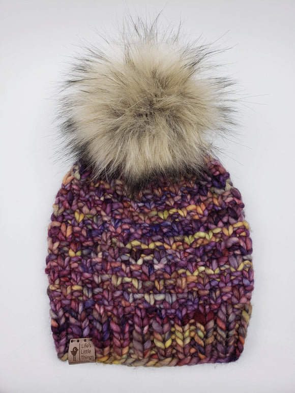 Linden Beanie - Archangel Merino Wool (Snap On Pom)