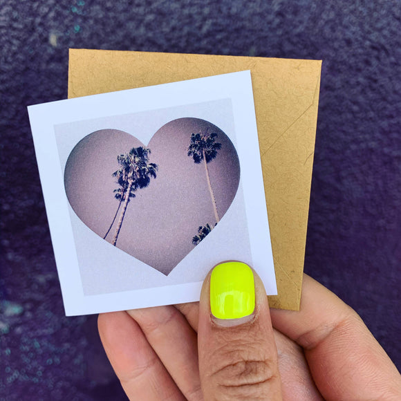 Heart Palm Tree Greeting Card