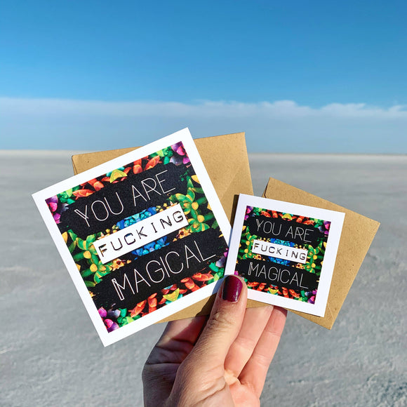 You are F'n Magical Greeting Card
