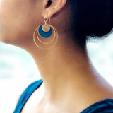 Encircle Earrings- Teal