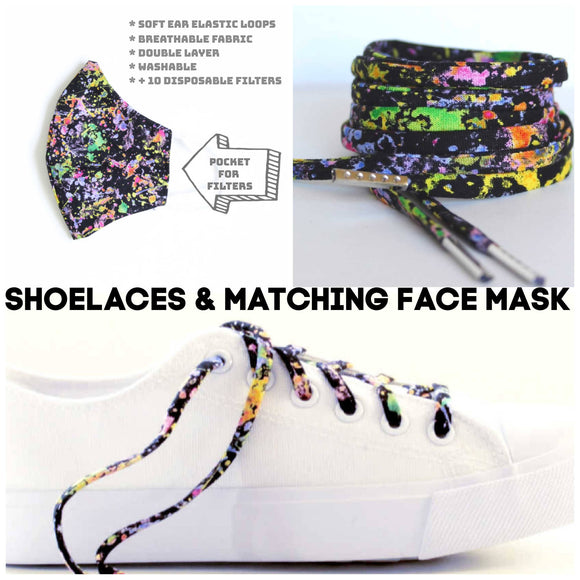 Cute Laces - Gift Set - Shoe Laces with Matching Face Mask