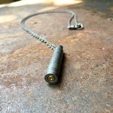 Single Bullet Necklace - Gray .223