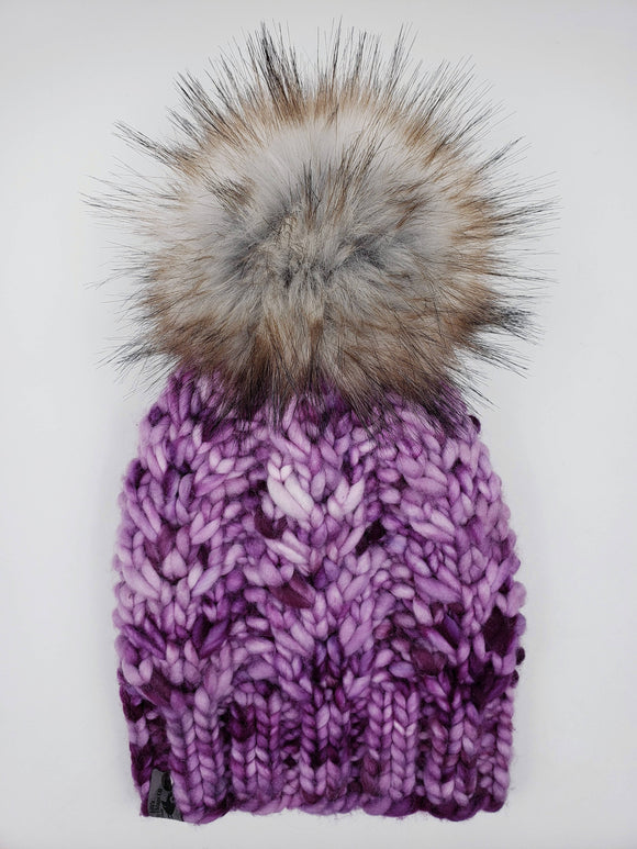 Chia Pi Beanie - Merino Wool (Snap On Pom)