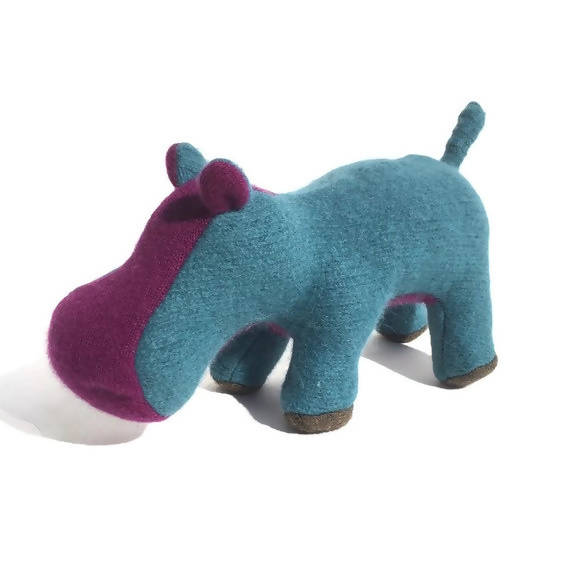 Little Turquoise and Purple Hippopotamus