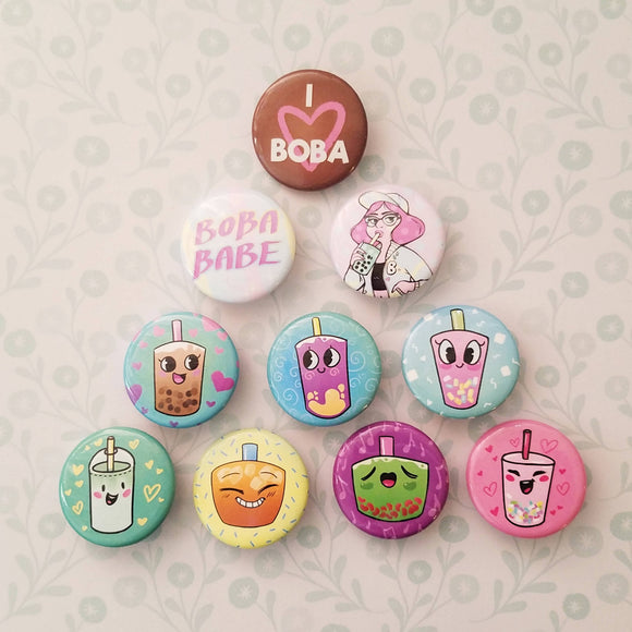 Boba Buttons