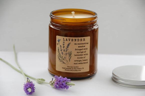 FLORAL Soy Candles by Firebristle