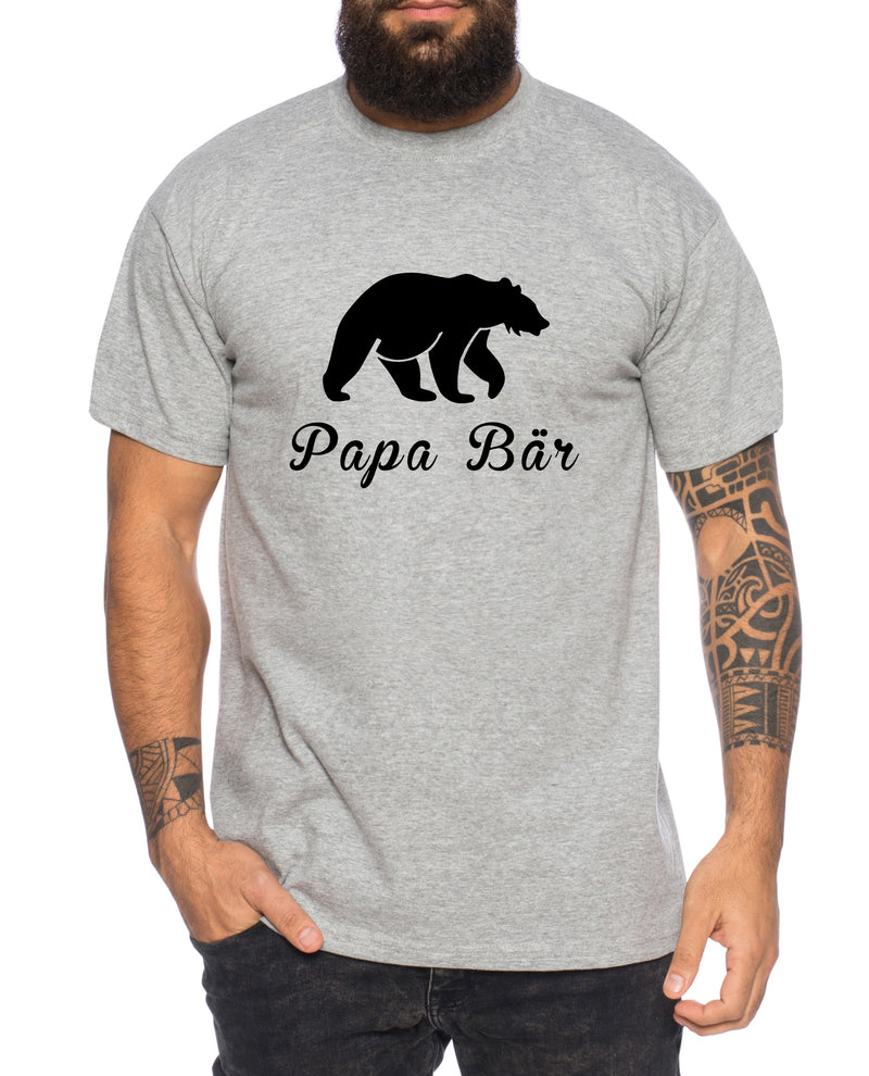 Papa Bär Herren T-Shirt Cooles Walt lustiges Fun Shirt