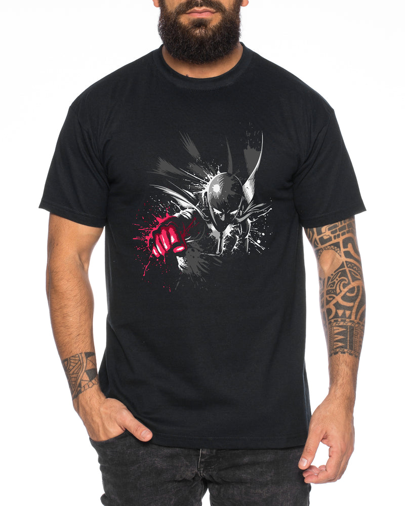 Saitama Fly Herren T-Shirt Punch one anime manga