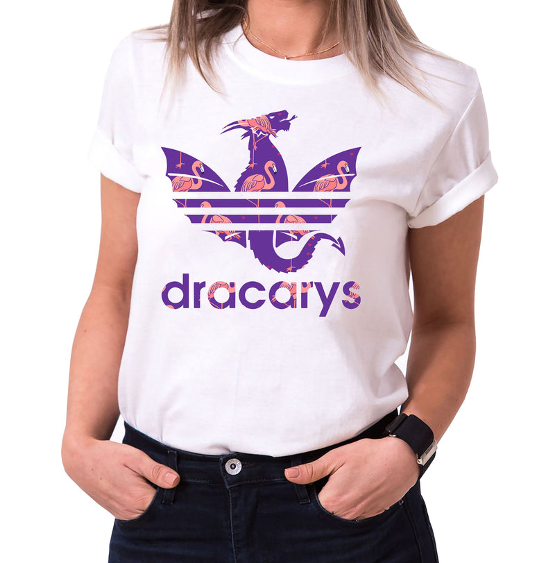 Dracarys Viola - T-Shirt Damen Targaryen  thrones game of stark lannister baratheon Daenerys khaleesi tv blu-ray dvd