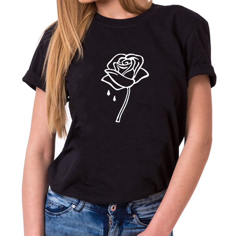 Rose - Statement Shirts - Damen T-Shirt Rundhals - Sprüche Shirts