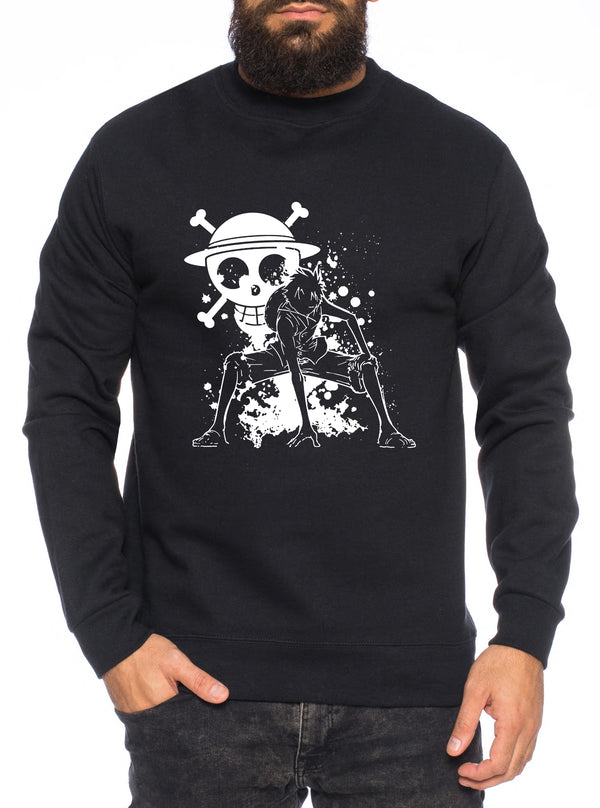 Ruffy Angry Zorro One Manga Herren Sweatshirt Ruffy Anime Piece