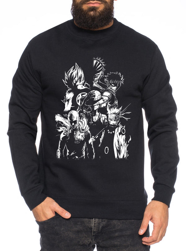 Heroes One Manga Helden Herren Sweatshirt Anime Piece