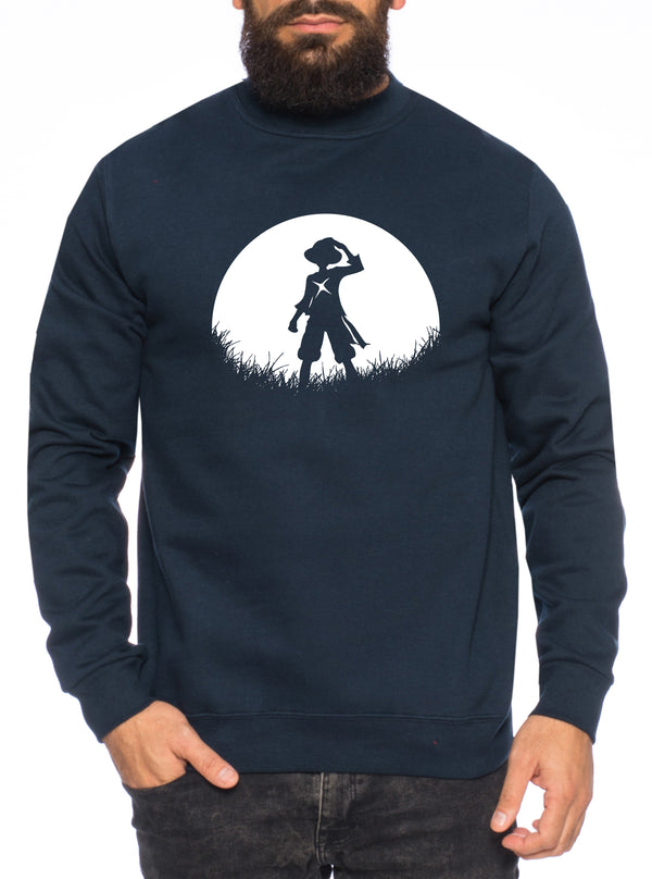 Sun Rise Ruffy Zorro One Manga Herren Sweatshirt Ruffy Anime Piece