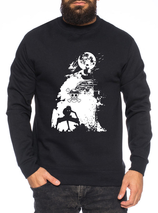 Ruffy Schiff Zorro One Manga Herren Sweatshirt Ruffy Anime Piece