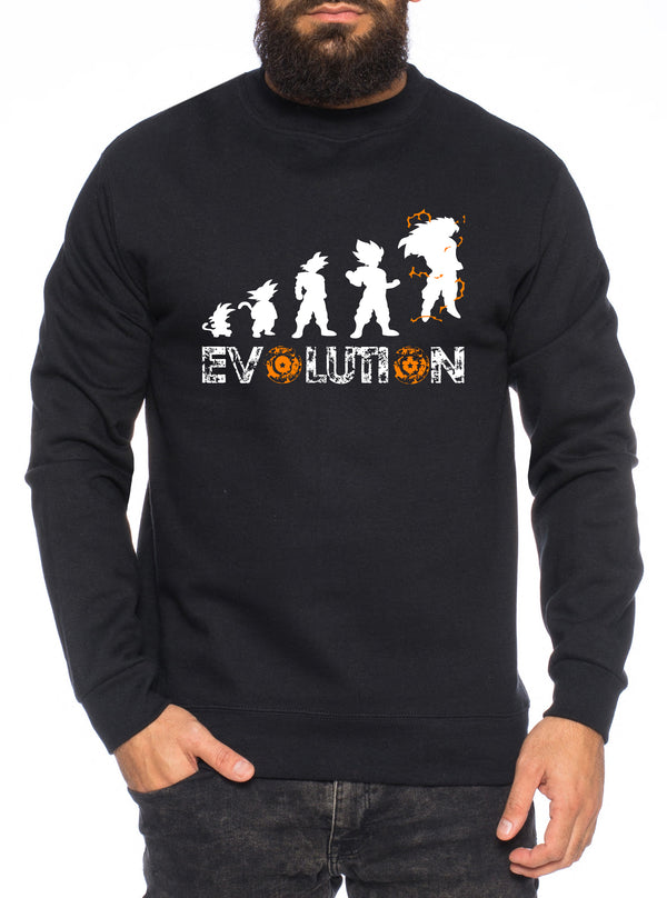 Evoloution Herren Sweatshirt Son Dragon Master Ball Vegeta Turtle Roshi Db