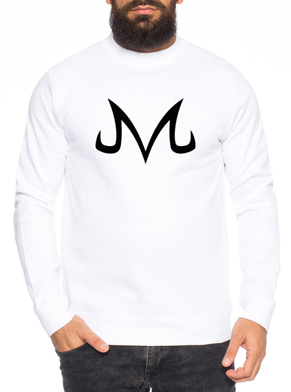 Majin Logo Herren Sweatshirt Son Dragon Master Ball Vegeta Turtle Roshi Db