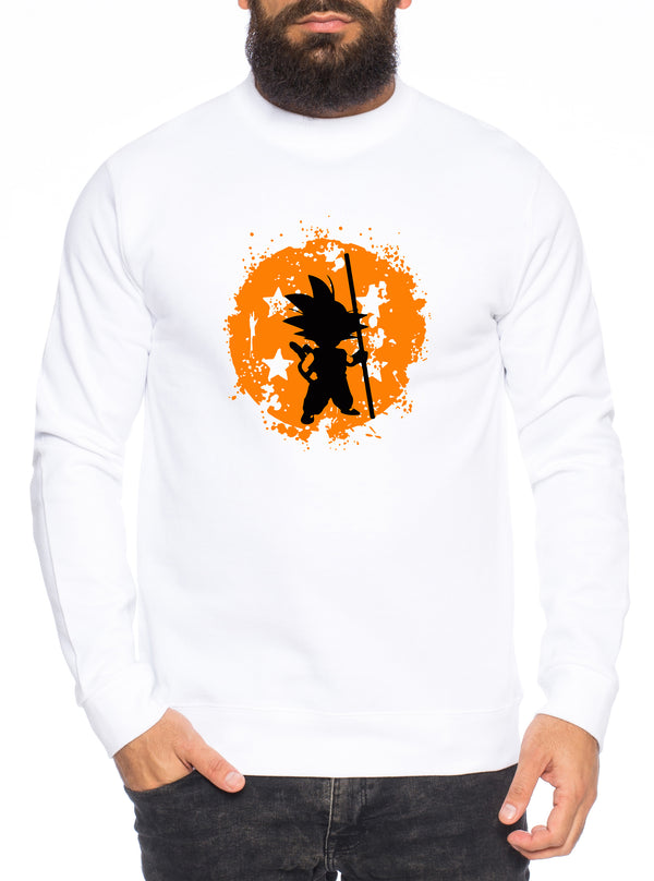 Son Bruch Herren Sweatshirt Son Dragon Master Ball Vegeta Turtle Roshi Db