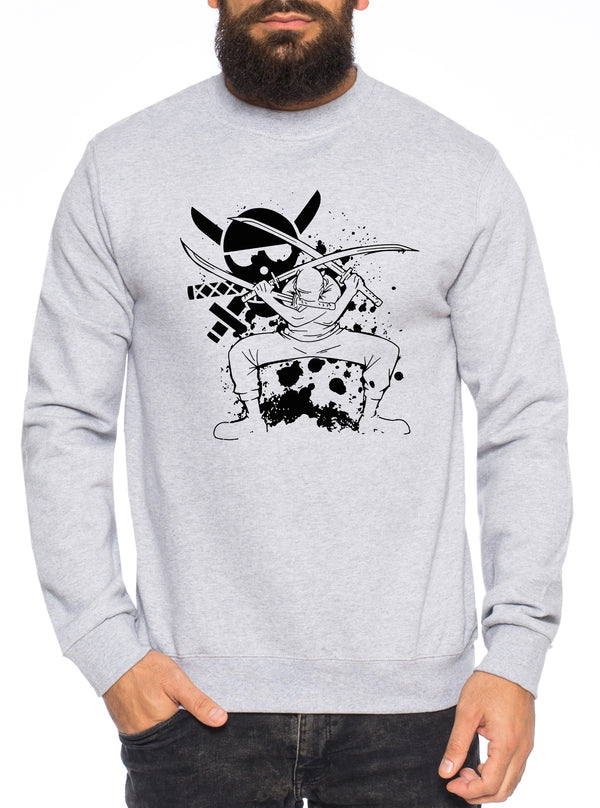 Zorro Angry One Manga Herren Sweatshirt Ruffy Anime Piece