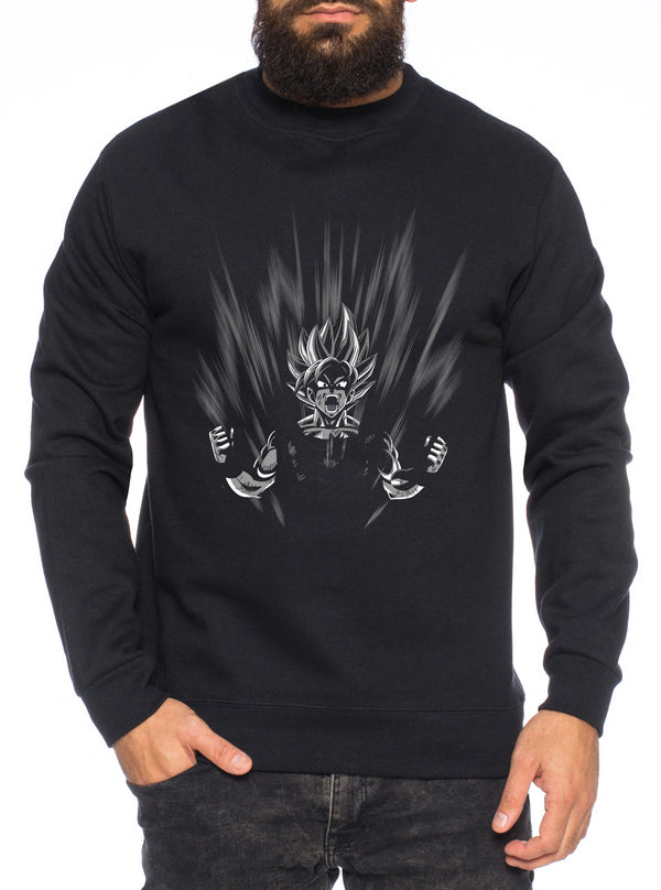 Scream Herren Sweatshirt Son Dragon Master Ball Vegeta Turtle Roshi Db