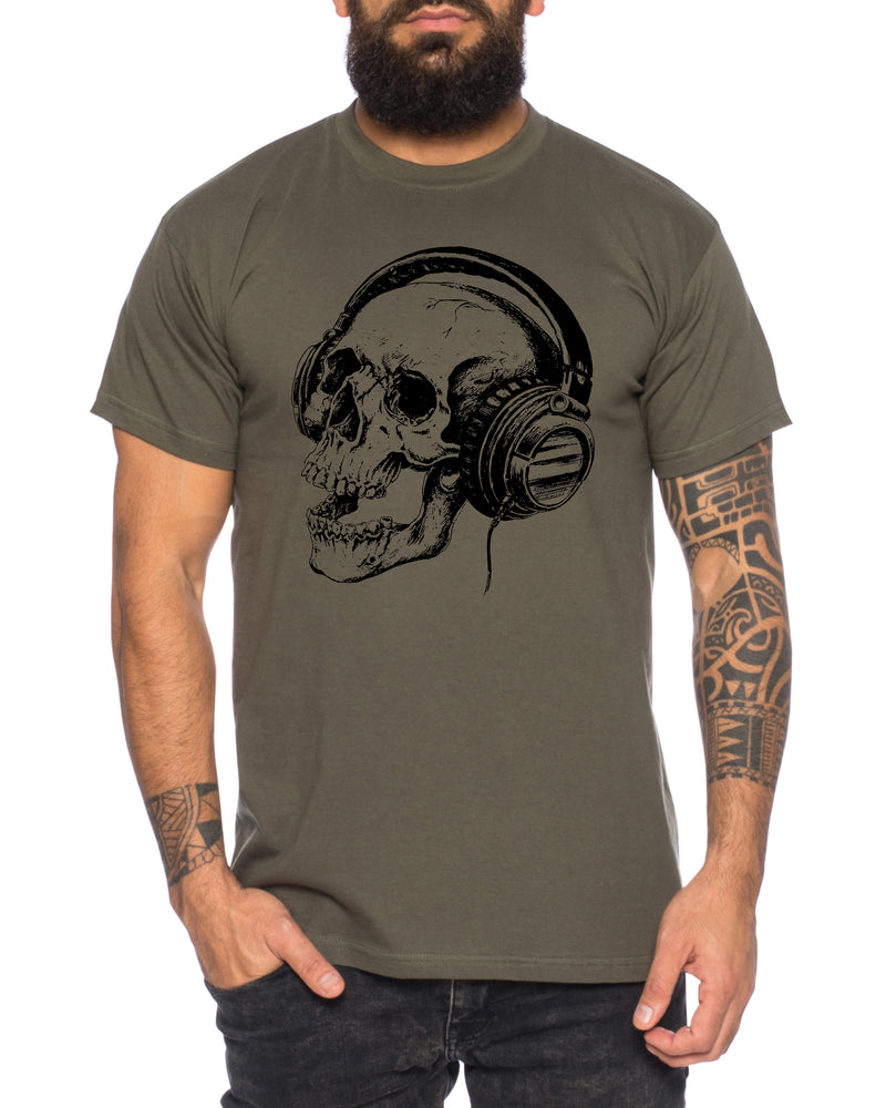 Skull Music Herren T-Shirt Cooles lustiges Fun Shirt