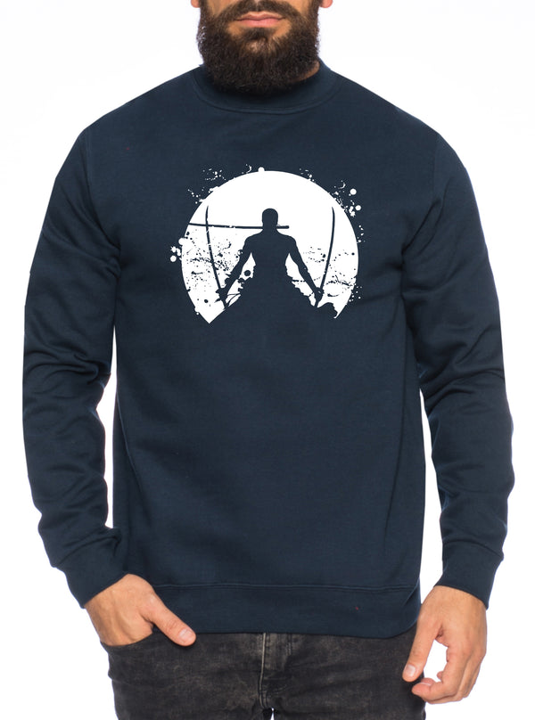 Zorro Moon One Manga Herren Sweatshirt Ruffy Anime Piece
