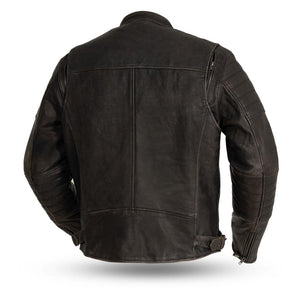 The Commuter - Men's Motorcycle Leather Jacket (Brown)