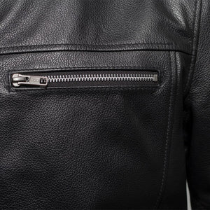 The Rocky - Men's Motorcycle Leather Jacket