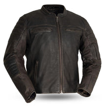 Load image into Gallery viewer, Commuter - Men's Motorcycle Leather Jacket (Brown)-FS