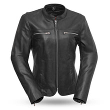 Load image into Gallery viewer, Roxy - Light weight cafe style leather jacket-FS