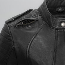 Load image into Gallery viewer, Biker - Women's Leather Motorcycle Jacket