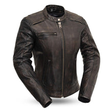 Load image into Gallery viewer, Trickster - Women's Leather Motorcycle Jacket-FS