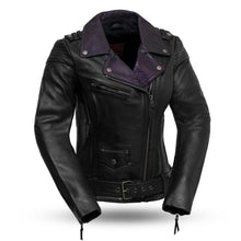 Load image into Gallery viewer, Iris - Women's Leather Motorcycle Jacket