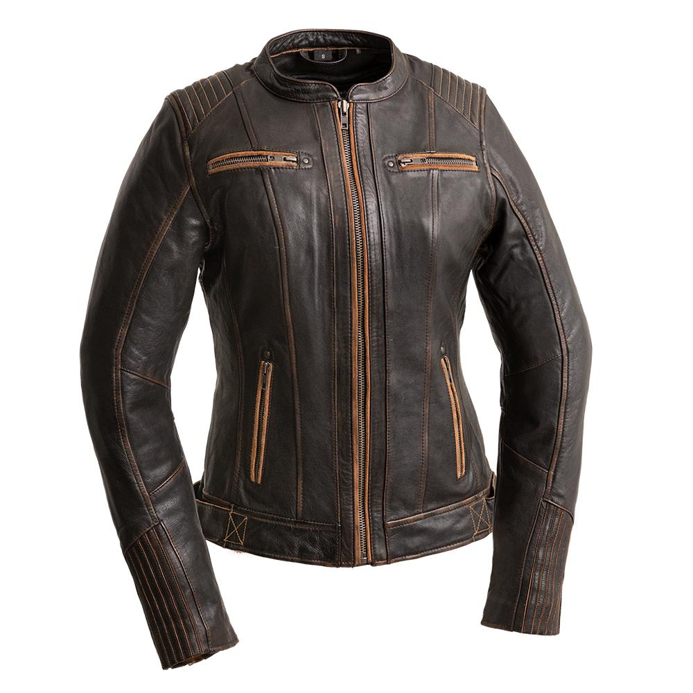 Electra - Women's Leather Motorcycle Jacket-FS