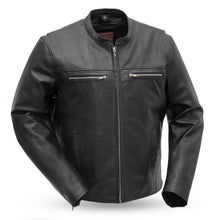 Load image into Gallery viewer, The Rocky - Men's Motorcycle Leather Jacket