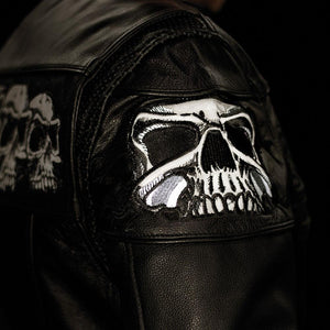 The Savage Skulls - Men's Motorcycle Leather Jacket