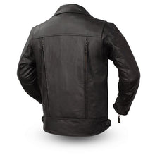 Load image into Gallery viewer, Mastermind - Men's Leather Motorcycle Jacket
