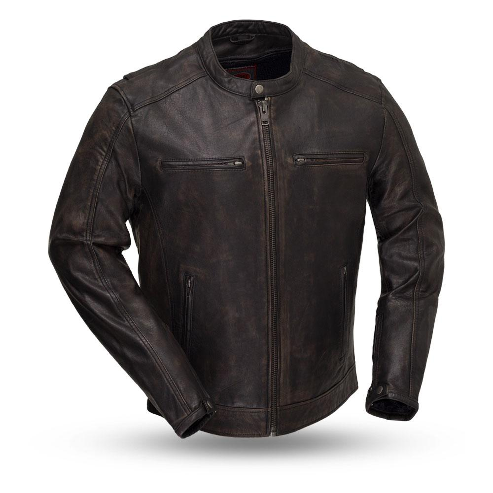 Hipster - Men's Motorcycle Leather Jacket-FS