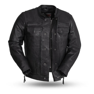 The Raider - Men's Motorcycle Leather Jacket (Black)