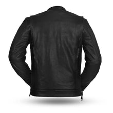 Load image into Gallery viewer, The Raider - Men's Motorcycle Leather Jacket (Black)