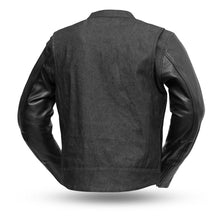 Load image into Gallery viewer, Cutlass Denim / Leather Motorcycle Jacket