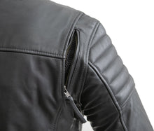 Load image into Gallery viewer, Commuter - Men's Motorcycle Leather Jacket (Black)