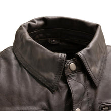 Load image into Gallery viewer, Villain - Men's Leather Motorcycle Jacket-FS