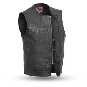 The No Rival - Men's Motorcycle Leather Vest